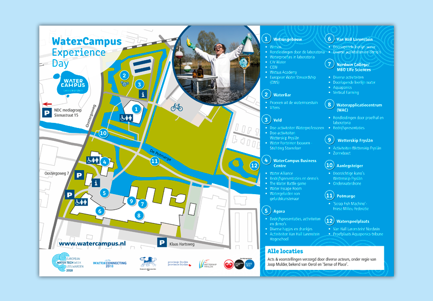 plattegrond WaterCampus experience day